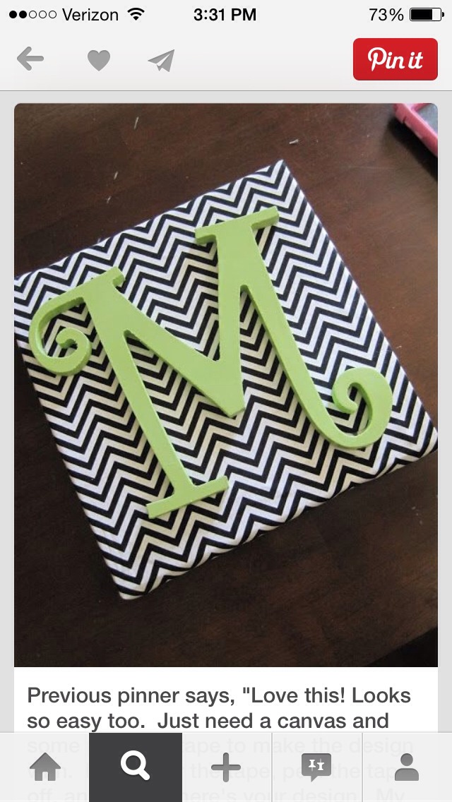 So easy and looks good. Just use painters tape paint and canvas.