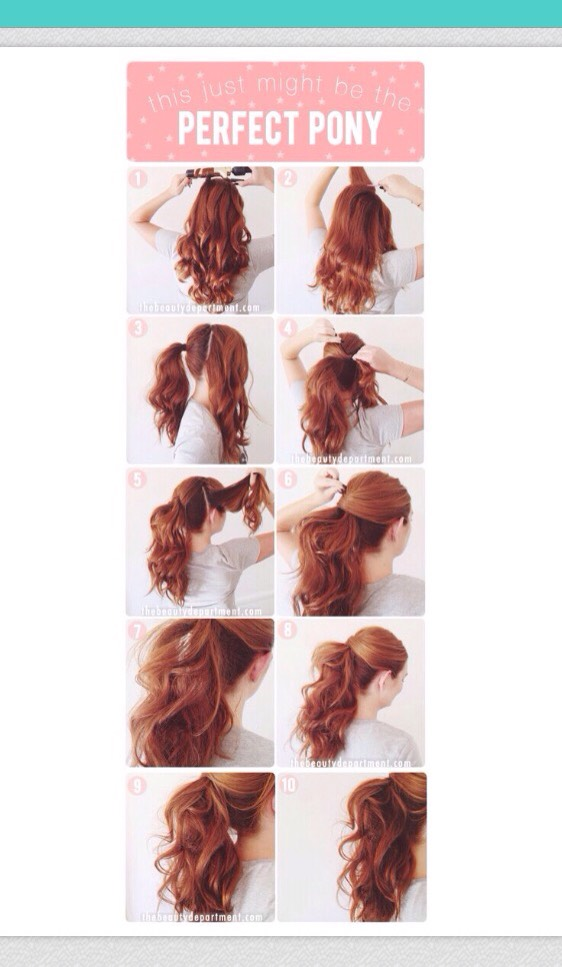 The perfect and simple pony tail