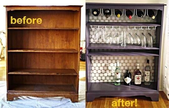http://www.apartmenttherapy.com/how-to-turn-a-bookcase-into-a-75567