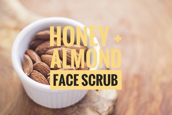 This honey + almond homemade face scrub is so simple, so good +an easy DIY project. It's soft on your skin + gives you a fresh glow.Almonds are great for hydration + will exfoliate your face kindly +honey is hydrating with the super power to killbacteria!