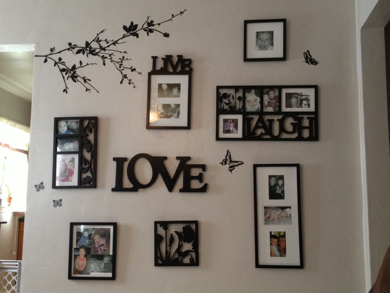 how to turn photos in wall hangins