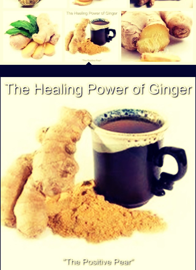 Ginger~ helps with digestion and boosts metabolism