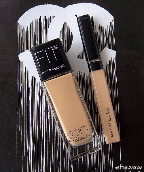 maybelline fit me concealer and foundation are both VERY good products
