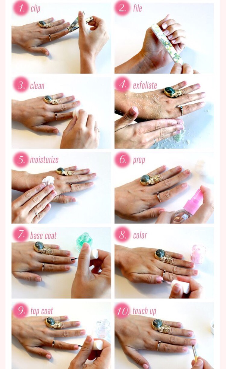 Steps to a perfect at home manicure