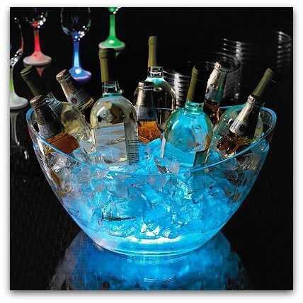 Glow stick beverage tub