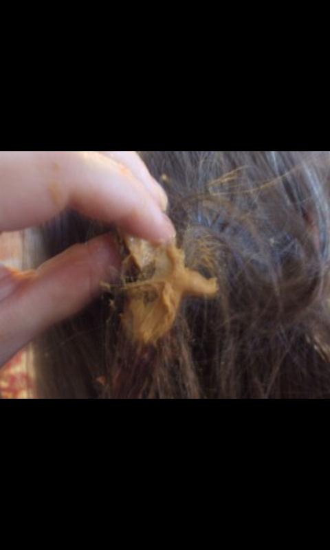 Spread a little on your hair.