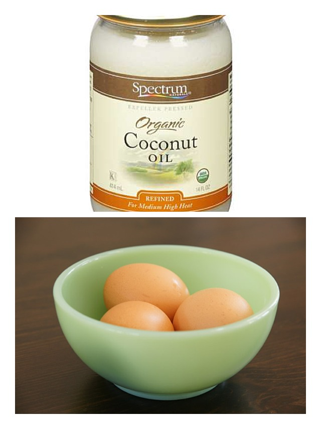 A Hair Mask that actually works ‼️  In a bowl put two or three tablespoons of coconut oil depending on how thick your hair is. Melt the coconut oil .  In two bowls separate the egg white and the egg yolk and in each bowl add the coconut oil and start applying to your hair let it rest 30 min and wash