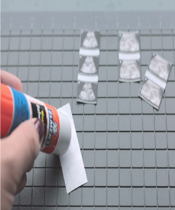 put glue on the backs.