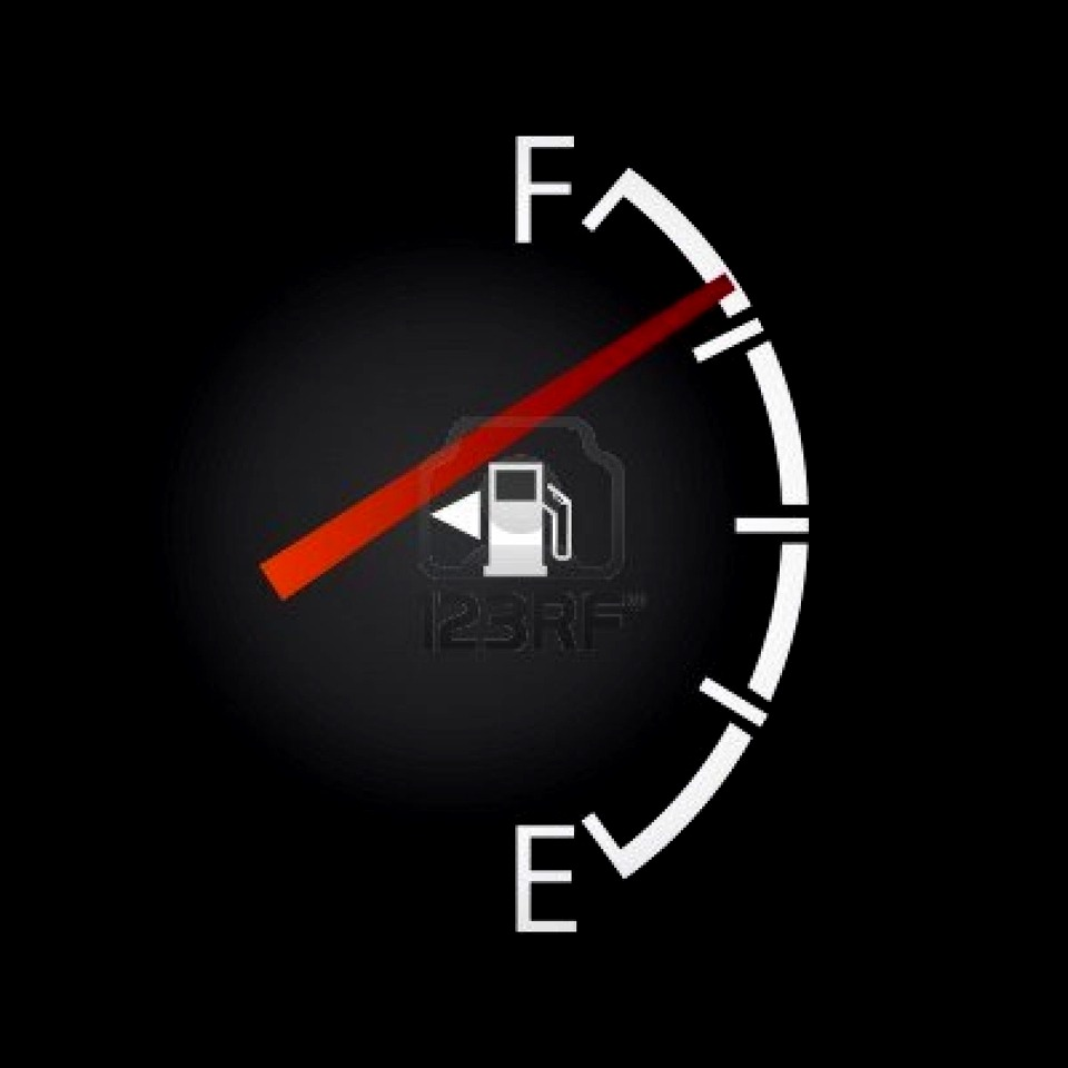 little white Arrow beside the gas tank picture shows which side your gas tank is