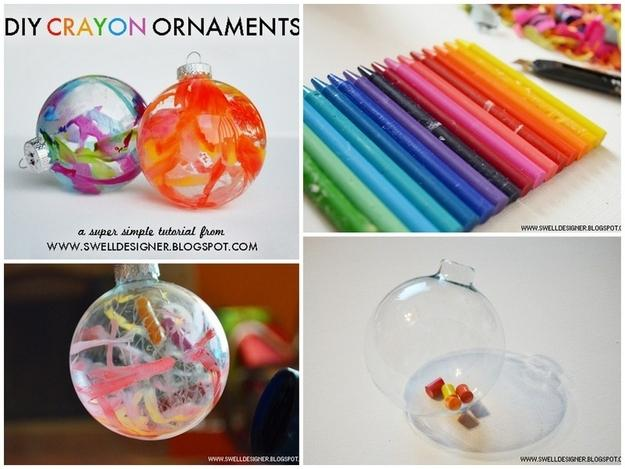 1. Melted Crayon Ornaments