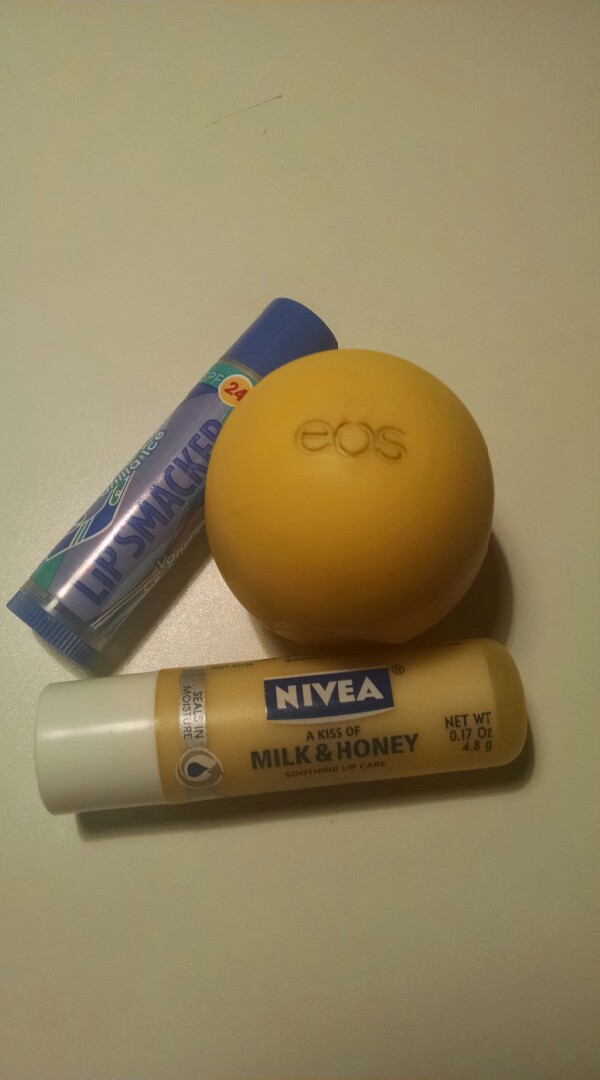 Any kind of chapstick.