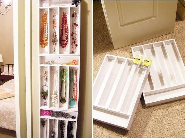 hang cutlery box's on your wall.store your jewellery in each part. easy cute and useful !!