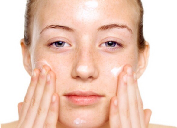 Apply where acne scars are and leave for over night