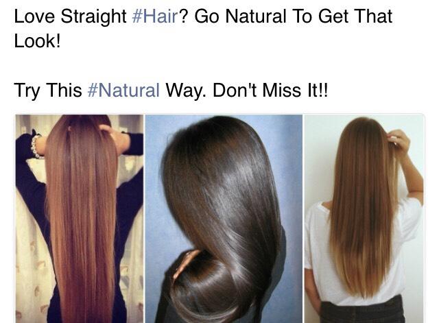 Straighten Up Your Hair Naturally Photo Thinkstock