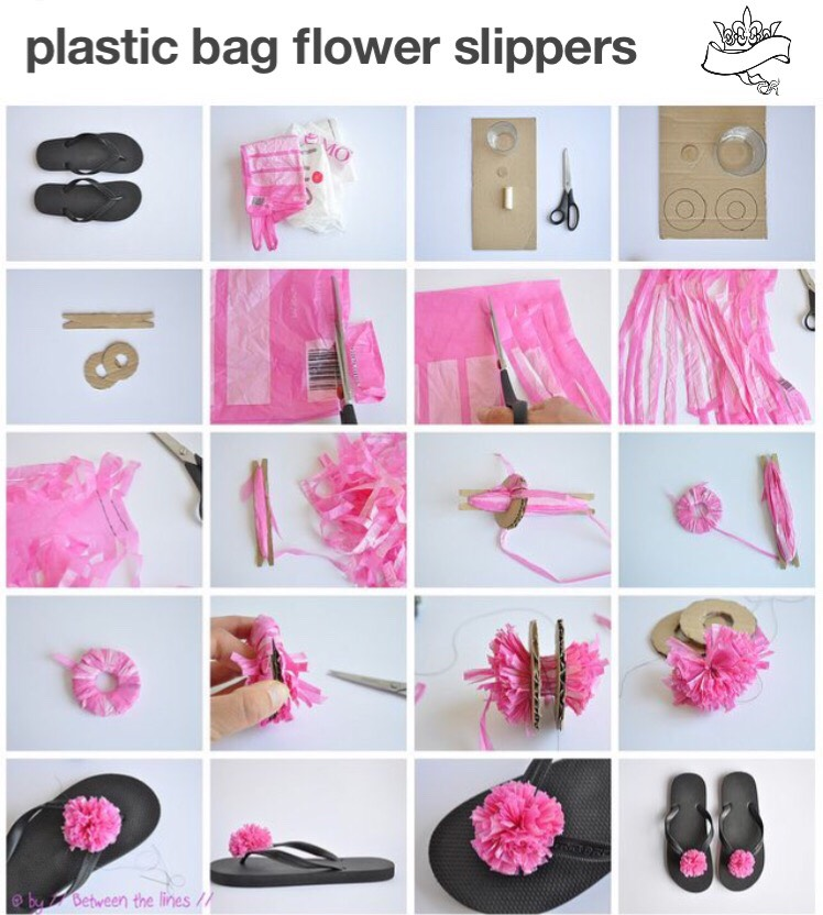 This is made from a plastic bag but you can make it out of whatever you want like fabric, yarn, string, twine ect..  This would be a perfect gift for any girl or yourself 😊