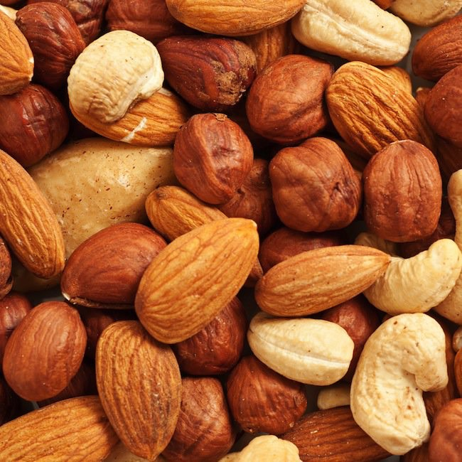 3. Nuts: Nuts are a great source of fiber, plus they contain all those good fats you need.