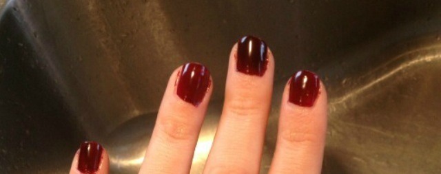 1. paint nails the color of your choice