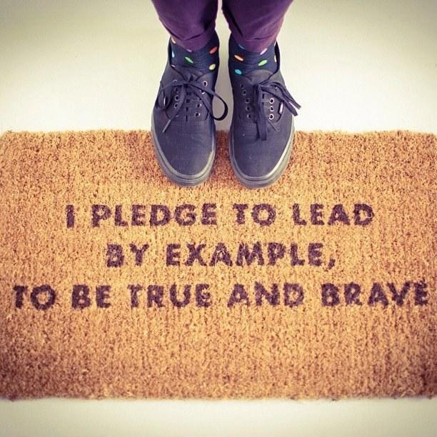 25. This Scout doormat: