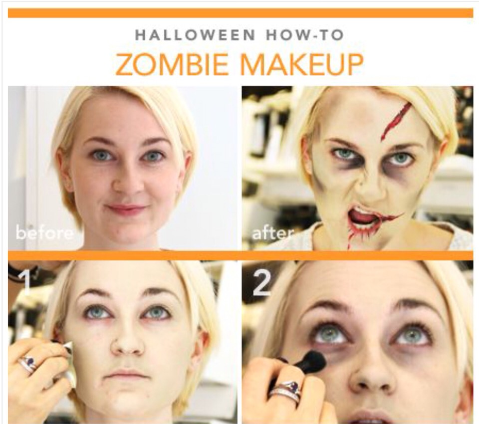 1 this zombie look is totally rocking it its a great way to get - Halloween Makeup For Beginners