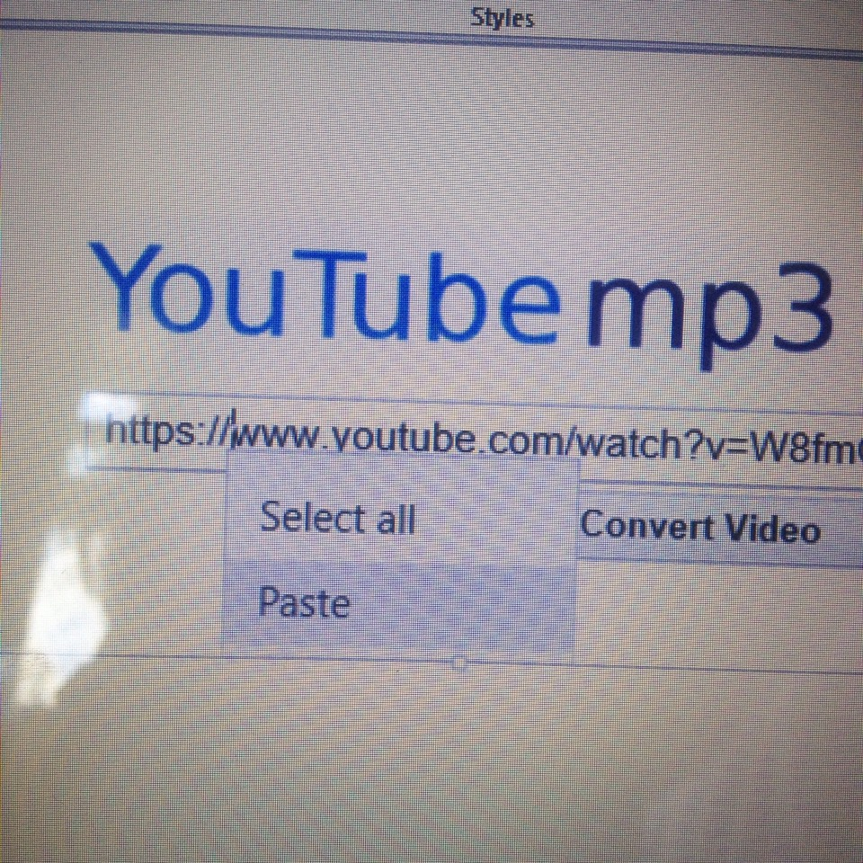 Go to YouTube to MP3 and paste the link into the box