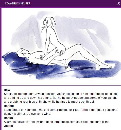 advantages and Sexual positions