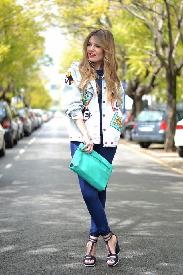 Colorful Denim Jacket and Shirt