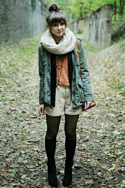 Who says you have to pack up your shorts one fall hits? Just add some layers, some tights, and voila!