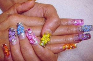 These nails here are very colorful! There very unique. Use your mind. Think of some great ways you can do your nails. All nails are cute. Everybody has there own opinion.