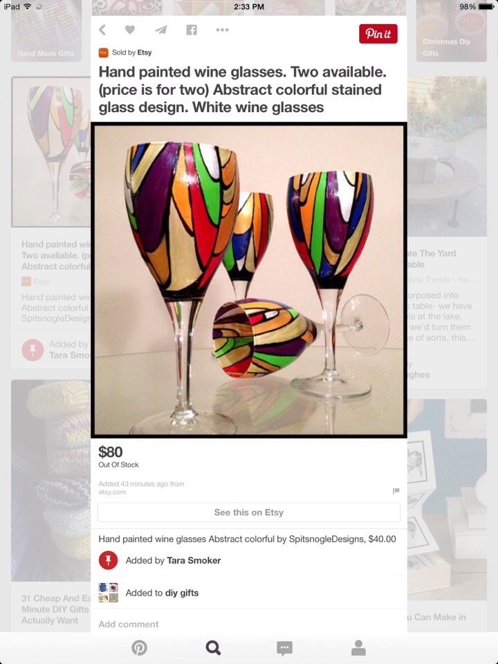 http://www.etsy.com/listing/121419930/hand-painted-wine-glasses-abstract?utm_source=Pinterest&utm_medium=PageTools&utm_campaign=Share