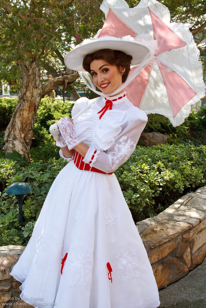 Mary Poppins Can be found in Town Square on Main Street.