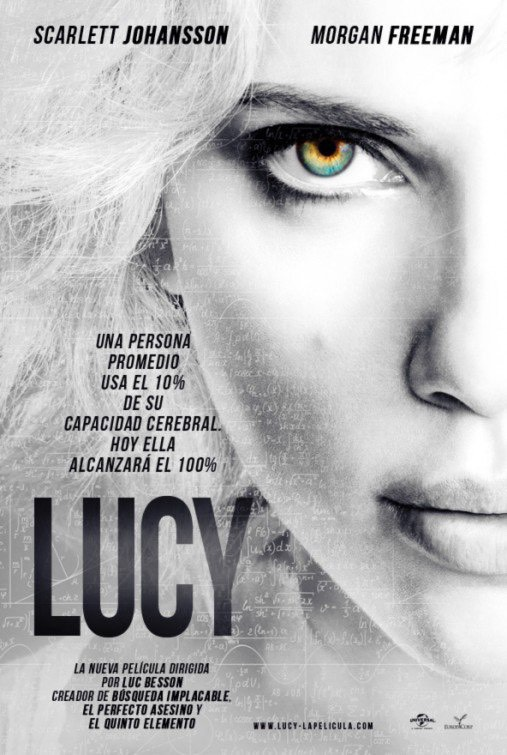 LUCY // Rated R After accidentally ingesting an experimental drug allowing her to harness 100% of her brain capacity, a woman (Scarlett Johannsson) is transformed into an omnipotent  avenging angel with super human powers.