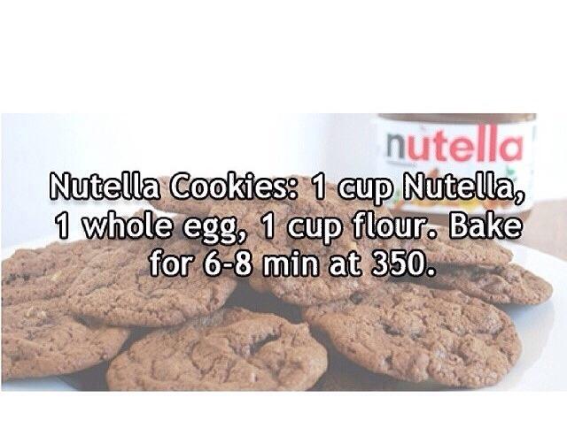 Nutella Cookies👅🍪