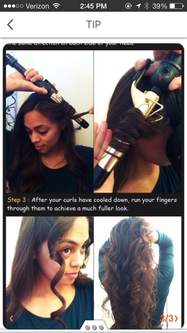 Simply follow directions. Personally I use hairspray and curls will last throughout the day.