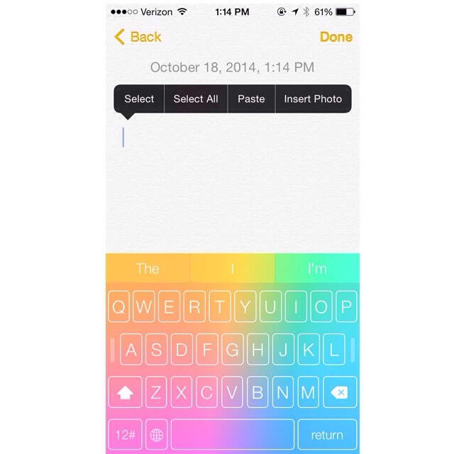 And there you have your colored keyboard