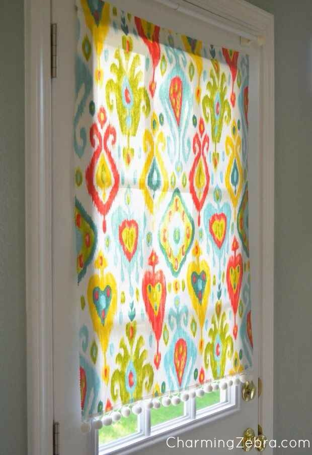 25. This insanely simple window shade is magnetic, moveable and no sew.