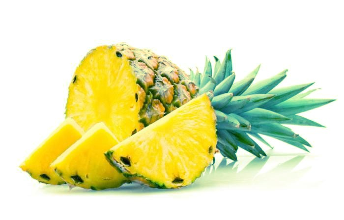Pineapples have many health benefits. It decreases the risk of obesity and overall mortality, diabetes, heart disease and promotes a healthy complexion and hair, increased energy, overall lower weight and blood pressure.