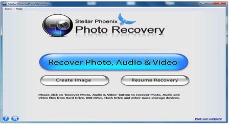 "Step 1 – Install ""Card Data Recovery"" tool and run it. Conn3ect your media to computer and then hit on ""Recover Photo, Audio & Video"" tab to recover images, songs and videos files."