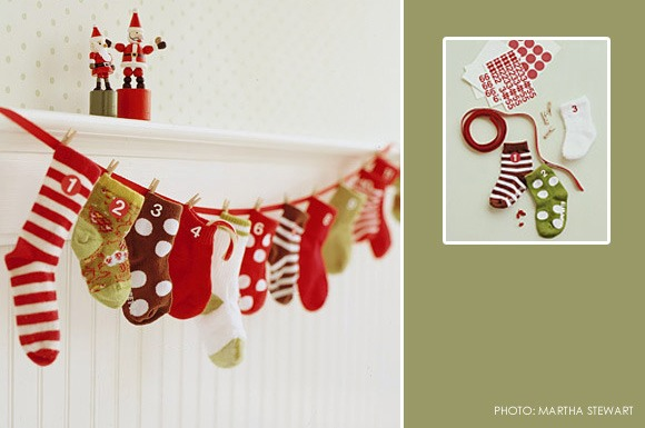 Christmas sock countdown! My kids have so many mismatched socks, this is a perfect way to recycle them, stuff them with cute Christmas notes quotes and ideas :) or just candy!! :)
