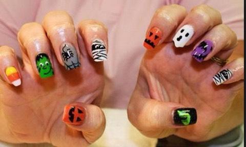 Halloween mix nails🎃👻💅