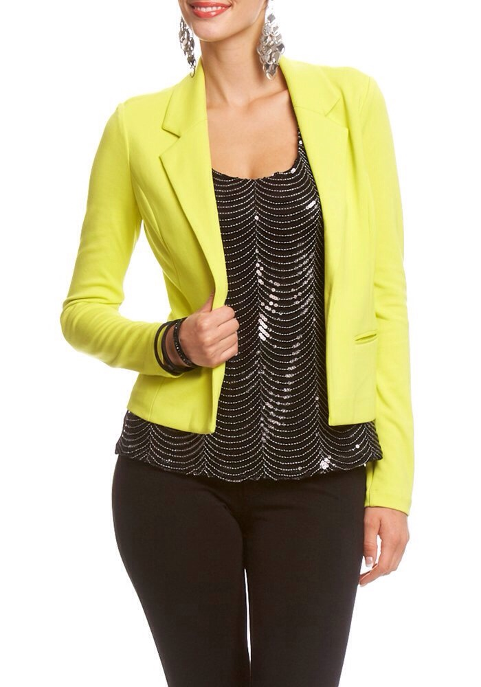 A blazer, like the flats, can complete many looks. They can be dressed up and dressed down, and can come in all sorts of colors.