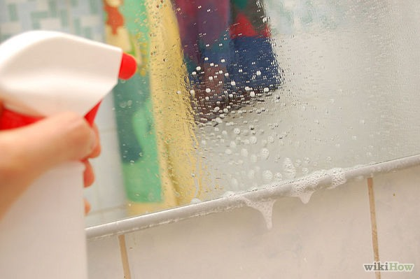 Spray a few squirts on your mirror or window.  Wipe with a clean cloth or paper towels. Some people prefer to use newspaper to clean all glass surfaces.