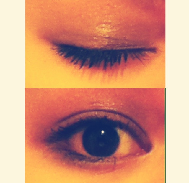 This is my eyes with eye shadow and mascara!