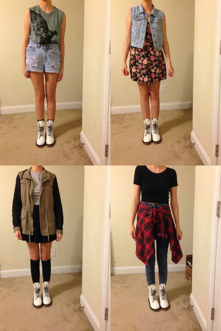 These are great outfits for white Martens
