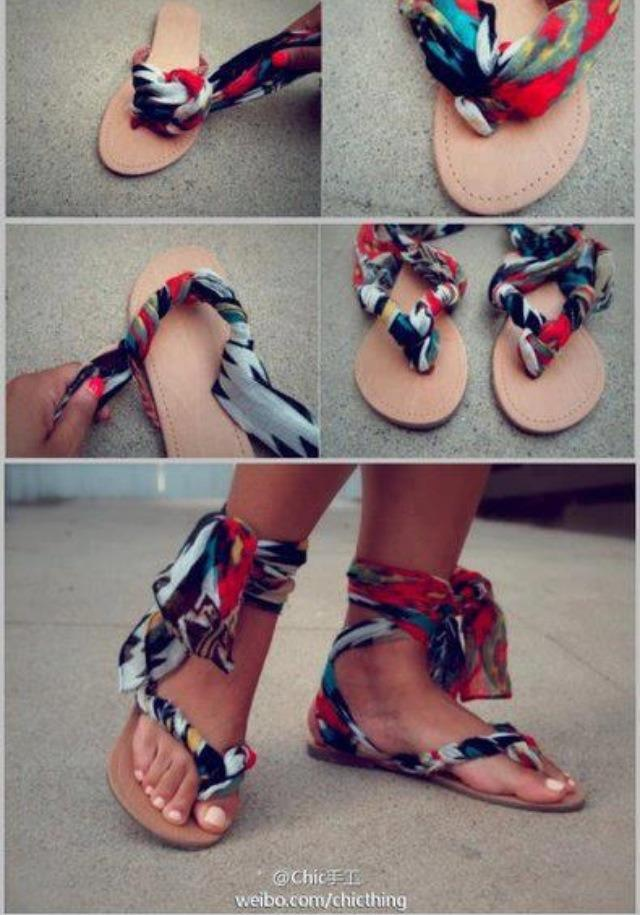 A you can see the finish look is amazing and stylish! Tis is definitely worth trying out as this is a great way to make simple plain sandals/flipflops look great!