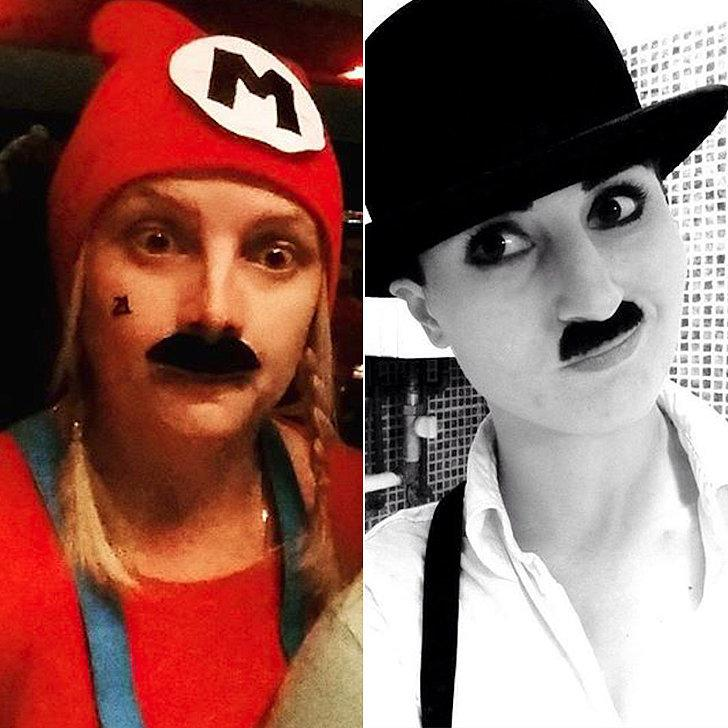 Costumes: Mario, Charlie Chaplin Mustaches Self-Adhesive Artificial Mustaches ($1)