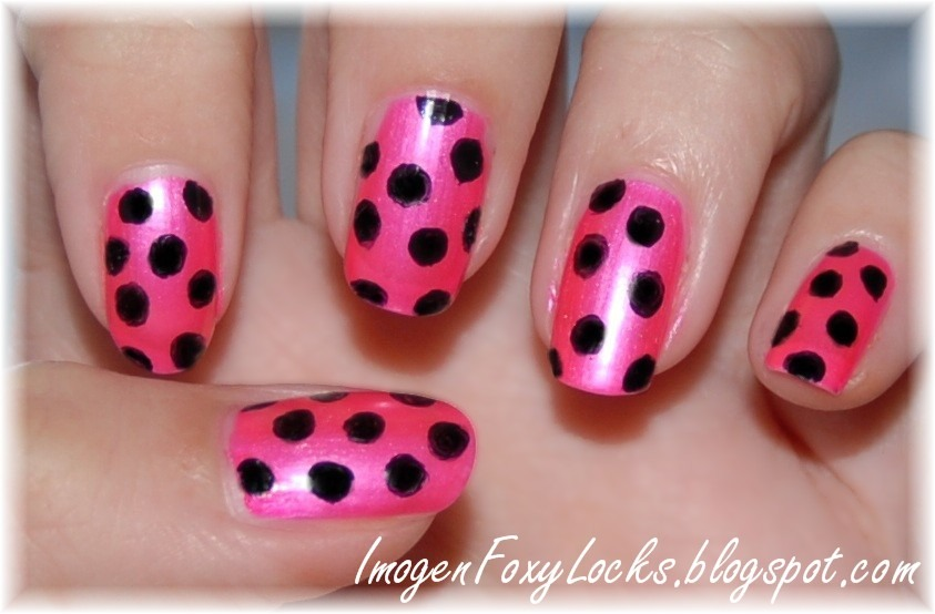 Shimmery polka dots are fantastic
