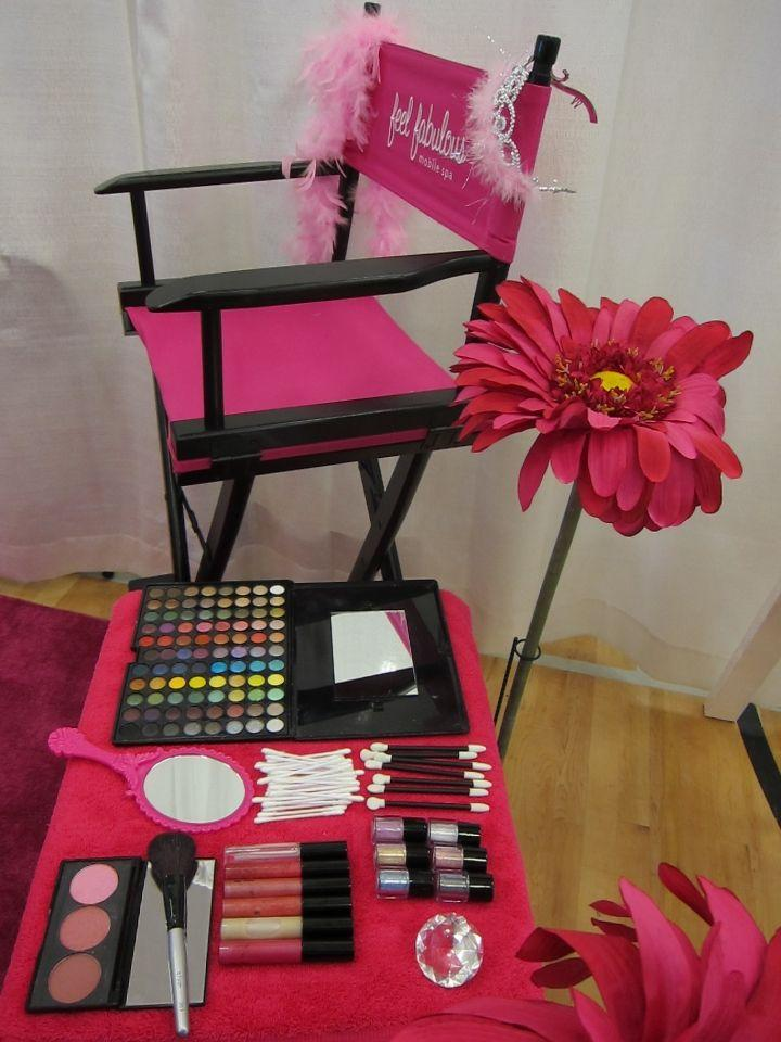 you can set up a make over station for you and the other moms involved can do a whole makeover for the girls