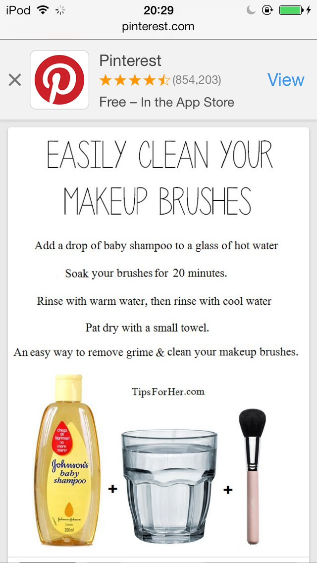 Double click if needed.  Do this every month. Cleaning your brushes helps pores.