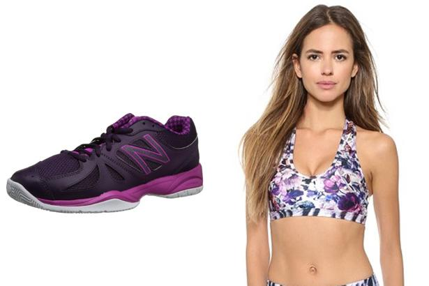 New Balance Women's WC696 Tennis Shoes, $64.95 at Amazon  We Are Handsome The Chameleon Sports Bra, $88 at Shopbop