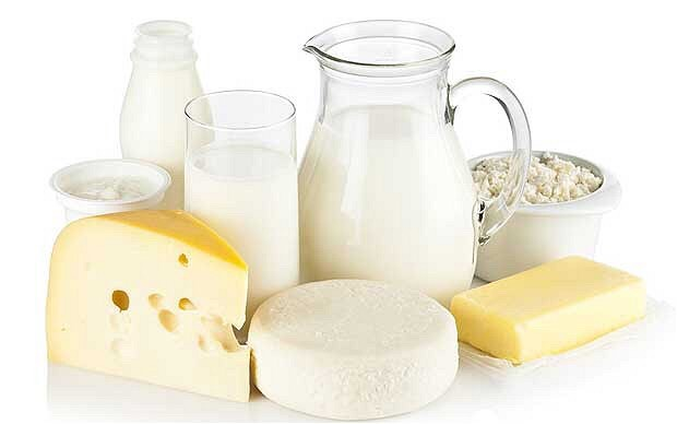 Dairy products contain reproductive hormones like estrogen, prolactin, and progesterone that can help with natural breast development.